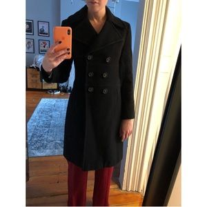 Via Spiga wool and cashmere double breasted coat